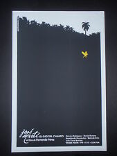 2-Day Sale! JOSE MARTI Original Cuban Silkscreen Movie Poster for EYE OF CANARY