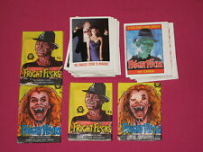 1988 Fright Flicks Lot, O-Pee-Chee OPC, 76 of 101 Card + 4 Wax Packs Sealed