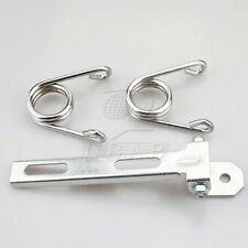 Silver Clip Spring Mount Bar Hardware 4 Harley Softail Chopper Bobber Solo Seat