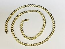 "10k Gold Comfort Concave Cuban Curb Link Chain Necklace 22"" 6 mm 9 grams"