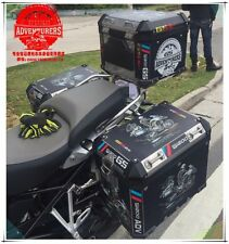R1200GS ADV Travel Event 2016 Black Side Pannier Case Sticker Decal BMW Motorrad