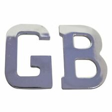 GB GREAT BRITAIN CHROME BOOT CAR BADGES ADHESIVE LETTERS LOGO 3D EMBLEM Z0925