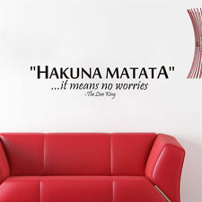 HAKUNA MATATA Cartoon The LION KING IT MEANS NO WORRIES Quote Wall Stickers