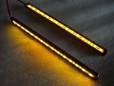 LED indicators strips Pair with machined cnc black case amber leds, LED