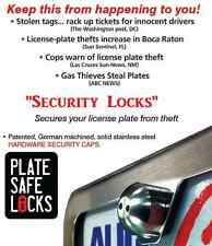 PlateSafe,Anti-Theft,Tamper Free,License Plate Security Locks,Screws,Black Pearl