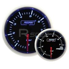 Prosport 52mm Super Smoked Blue / White Oil Pressure BAR gauge