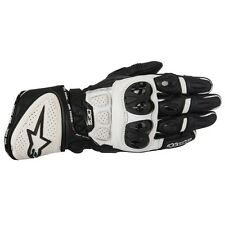 ALPINESTARS GP PLUS R LEATHER GLOVES BLACK & WHITE MEDIUM