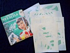 Vintage 1966 Glass Wax Christmas Stencils / Window decorations