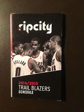 Portland Trail Blazers 2014-15 NBA pocket schedule - Moda