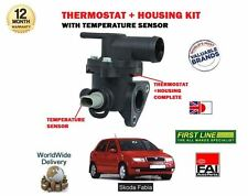 FOR SKODA FABIA 1.0 1.2 1.4 8v 2000--  NEW THERMOSTAT + HOUSING KIT + SENSOR KIT