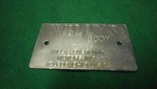 Jeep Willys CJ3A 1948 and later Body data plate R1060 US Made!