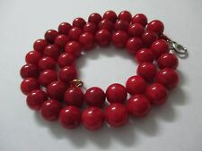 42 gr.Natural Victorian Salmon Coral Necklace Red Round Beads Ultra Rare Beads.