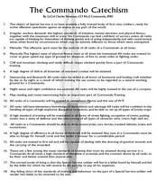 Large A3 Commando Catechism Poster - Skills Doctrine by Colonel Newman (UK CCA3