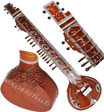 ELECTRIC SITAR~DESIGNER TUN WOOD~PROFESSIONAL QUALITY~TABLA~HARMONIUM~ESRAJ~DRUM