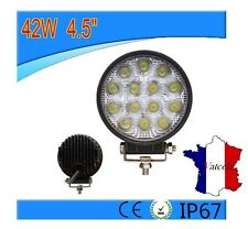 FEU PUISSANT 42W LED LAMPE ROND LUMIERE VEHICULES UTILITAIRES UNIVERSEL 12V 24V