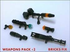LEGO STAR WARS MINIFIG WEAPONS LOT: CUSTOM RIFLES, BLASTERS, GUNS WEAPON PACK #2