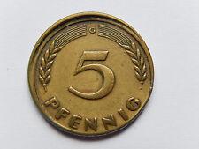"""""""5 Pfennig 1949 G"""" BDL Fehlprägung - nicht zentriert - Prägeschwäche selten"""