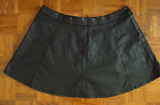 COUNTRY ROAD LEATHER WET LOOK A FLARED MiNi Dress SKIRT PLUS Size 16