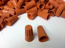 (100 pc) Orange Screw-On Nut Wire Connectors P3 Barrel lot UL Listed 22-14 AWG