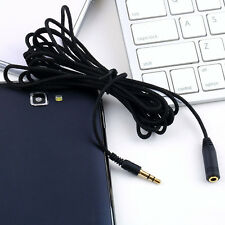 3M/10ft Cloth Gold Plated Audio Jack 3.5mm M/F Stereo Headphone Extension Cable