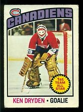 1976 77 OPC O PEE CHEE #200 KEN DRYDEN AS EX MONTREAL CANADIENS HOCKEY CARD