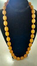 Stunning Art deco egg yolk butterscotch amber  Bakelite  beads necklace 104 g