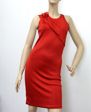 $1450 NEW Authentic Gucci Dress w/Flower Brooch,sz S, Red, 284279