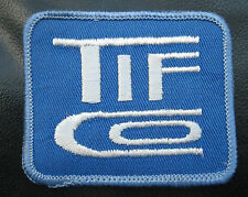 TIF CO EMBROIDERED SEW ON PATCH TOOLS ADVERTISING COMPANY