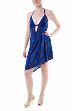 Free People Women's Daydream Printed Mini Dress Blue Size XS RRP £98 BCF69