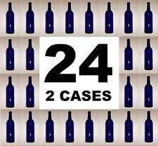 WINE BOTTLES 24 COBALT BLUE  BORDEAUX BRAND NEW 2 CASES OF 12 750ml MAKING WINE?
