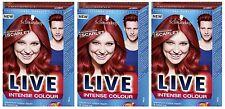 Schwarzkopf LIVE Intense 033 Scandalous Scarlet Hair Colour Dye x3 DEAL OFFER