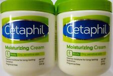 Cetaphil Fragrance Free Moisturizing Cream For Dry Sensitive  - 2 x 20 Oz Jars