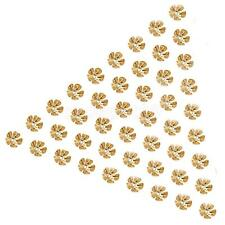 50Pcs Gold Plated Metal Flower Bead Caps 8mm Jewelry Findings