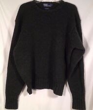 Polo Ralph Lauren 100% Wool Crew Neck Pullover Sweater Green Mens Size L