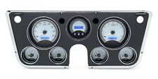 67-72 Chevy Truck C10 Dakota Digital Silver Alloy & Blue VHX Analog Gauge Kit