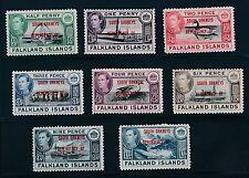 """1944 Falkland Islands """"SOUTH ORKNEYS DEPENDENCY"""" OVERPRINTS, MH, CAT VALUE $29"""