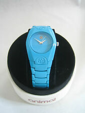 ANIMAL WATCH WOMENS MOOJI STAINLESS STEEL AQUA WWSV17 - G66 BNIB GENUINE