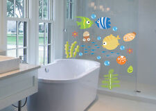 Cartoon wall stickers affixed to the fish waterproof children bedroom wall New