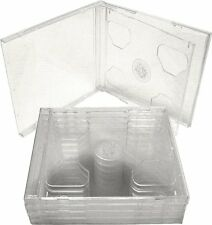 (5) CD2R10CL Double CD Jewel Boxes Cases SLIMLINE with Clear Tray 10.4MM Hinge