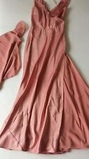 Women's Amanda Wakeley prom wedding evening dress pink-peach color size 8 BNWT