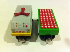 Wooden Fog Horn Car and Blasting Cap Car for Thomas Trains Wooden Railway