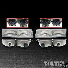1989-1994 Mercury Cougar Grand Marquis Headlight Lamp Clear lens Halogen Pair
