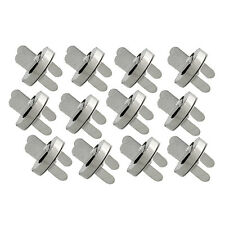 18mm Magnetic Snaps Bag Clasp Fastener Silver Sewing Button 12 Set Handbag
