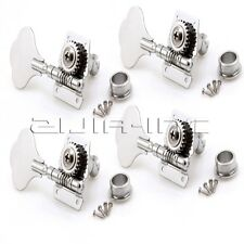 4R Machine Heads Tuning Pegs with Screws for Jazz P Bass Guitar Replacement