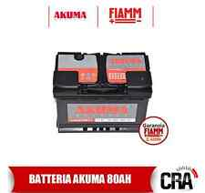 BATTERIA AUTO AKUMA KOMFORT+ 80 AH 12V 680A NUOVA ORIGINALE VW GOLF PLUS