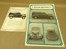 Vintage Bohemian Glass Works Brochure Book Volkswagen VW Beetle Car Kit 1977