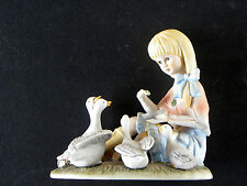 COLLECTIBLE ARDALT GIRL DUCKS GEESE LENWILE  FIGURINE  read more ...