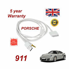 PORSCHE 911 CDR-31 Audio System iPhone 3GS 4 4S iPod USB & Aux Cable white