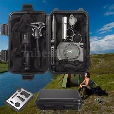 Professional 10 in 1 Survival Kits Hike Camp Travel Outdoor Field Emergency Tool