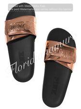 New Victorias Secret PINK Rose Gold Slide Slipper Flip Flop Sandal Big S 5-6 NWT